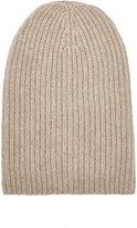 Barneys New York Women's English Rib-Knit Beanie-TAN