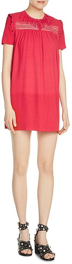 Maje Riseta Embellished Mini Dress