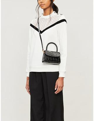 Claudie Pierlot Mirrored-button cotton-jersey sweatshirt