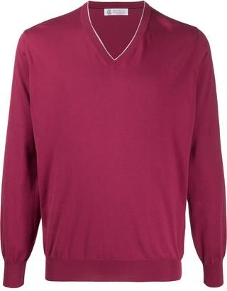 Brunello Cucinelli V-neck cotton pullover