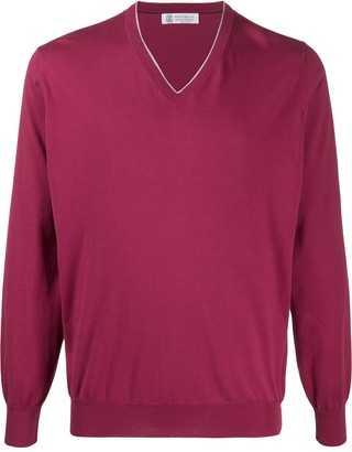 Brunello Cucinelli V-neck cotton pullover