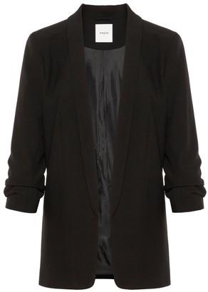 Pieces Long Classic Blazer - extra small   polyester   black - Black/Black