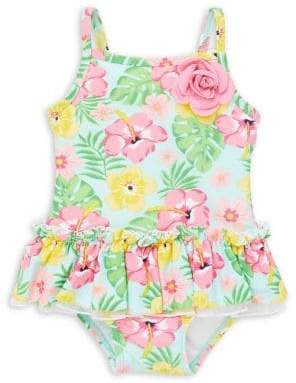 Little Me Baby Girl's Floral-Print 1-Piece Swimsuit