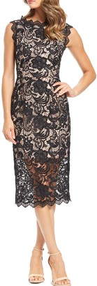 Dress the Population Cardea Sleeveless Crochet Lace Dress