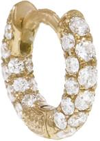 Maria Tash 5mm 5 Row Diamond Pave Single Hoop - Yellow Gold