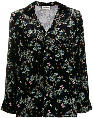 Zadig & Voltaire Floral Print Long-Sleeve Shirt