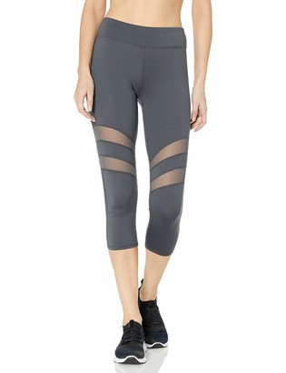 Andrew Marc Women's Solid Capri with Mesh Insets