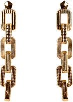 Eddie Borgo Gold-Plated Small Supra Link Drop Earrings
