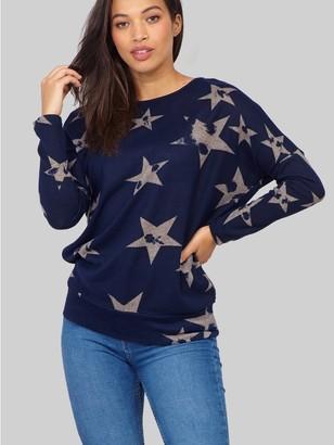 M&Co Izabel star print knit jumper