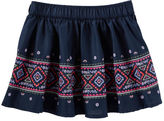 Osh Kosh Geo Border Print Skirt