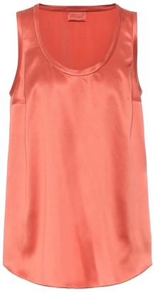 Brunello Cucinelli Exclusive to Mytheresa Stretch-silk tank top