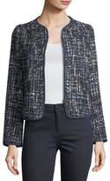 Armani Collezioni Lurex Tweed Zip-Front Jacket