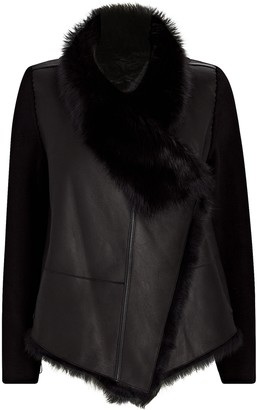 Yves Salomon Reversible Wool-Trimmed Shearling Jacket
