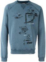 DSQUARED2 stitch detail sweatshirt