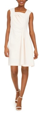 Calvin Klein Petite Square-Neck Sheath Dress