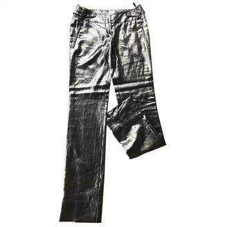 Christian Dior \N Silver Linen Trousers