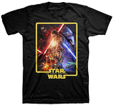 Black Star Wars The Force Awakens Poster Tee - Adult