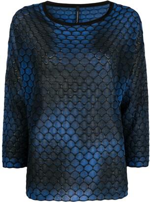Pierantonio Gaspari Hexagon-Pattern Knit Top