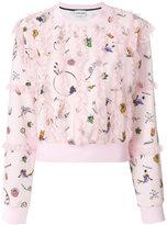 Au Jour Le Jour Plumetis lace trim sweatshirt