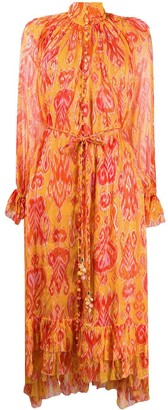 Zimmermann Abstract Print Silk Dress