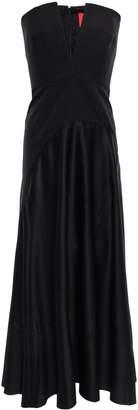 SOLACE London Paneled Satin And Crepe Midi Dress