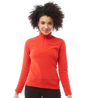 Berghaus Womens Prism Micro Polartec 1/2 Fleece Orange