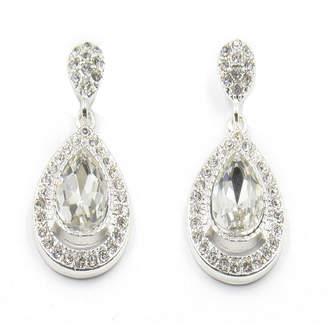 VIESTE ROSA Vieste Silver-Tone Crystal Pave Teardrop Earrings
