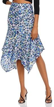 Aqua Floral Handkerchief Hem Skirt - 100% Exclusive