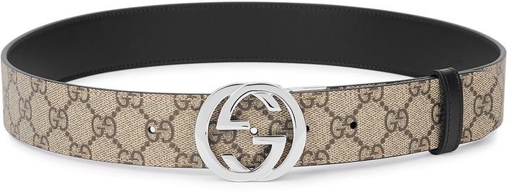 Gucci GG Supreme Monogrammed Reversible Belt