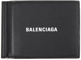 Balenciaga Black Cash Money Clip Wallet