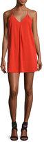 Alice + Olivia Fierra Crepe Y-Back Tank Dress, Bright Red