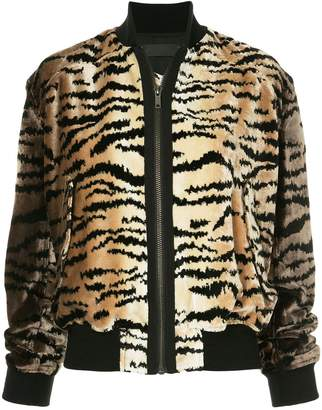 Haider Ackermann tiger stripe bomber jacket