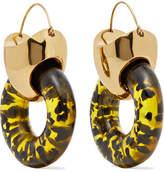 Ellery Hush Gold-plated Resin Earrings - one size