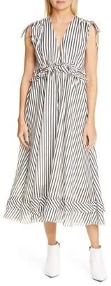 Robert Rodriguez Mariel Stripe Midi Dress