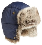 Barbour Women's Faux Fur Trapper Hat - Blue