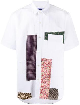 Junya Watanabe Short Sleeve Patchwork Shirt