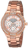GUESS Women's U0111L3 Sparkling Hi-Energy Mid-Size Rose Gold-Tone Watch