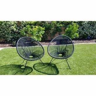 Bronx Bovina Patio Chair Ivy Color: Black