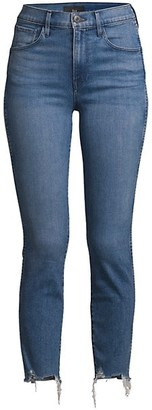 3x1 W3 Authentic Mid-Rise Straight-Leg Cropped Jeans