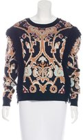 Ronny Kobo Intarsia Knit Long Sleeve Sweater w/ Tags