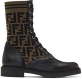 Fendi Black Forever Combat Boots