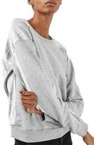 Topshop Women's Crinkle Velvet Back Pullover