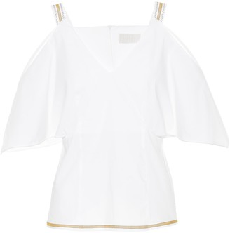 Peter Pilotto Off-the-shoulder cotton top