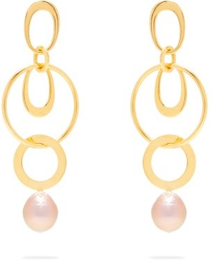 Lizzie Fortunato Wind Chime Gold Plated Drop Earrings - Womens - Gold