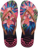 Havaianas Slim Tropical Rubber Flip Flops