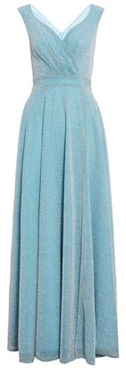 Dorothy Perkins Womens Quiz Sky Blue Glitter Wrap Maxi Dress, Blue