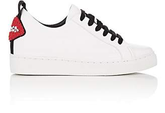 Helena & Kristie Women's Bacio Concealed-Wedge Leather Sneakers - White