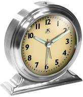 Infinity Instruments Boutique Table Bell Clock Silver