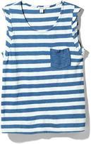 Splendid Indigo Dye Stripe Pocket Tank