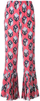 Gucci Wallpaper print cropped trousers